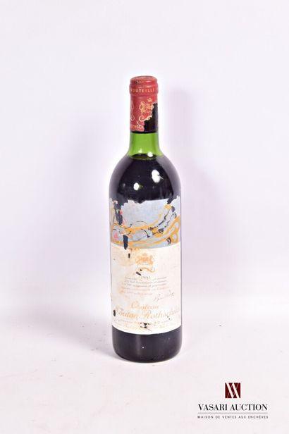 1 bouteilleChâteau MOUTON ROTHSCHILDPauillac 1er GCC1981  Et. d'Arman, fanée,...