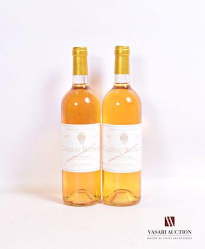 2 bouteillesChâteau BOUSCLASBarsac2007...