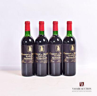 4 bouteillesCOUVENT DES JACOBINSSt Emilion...