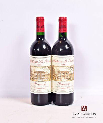 2 bouteillesChâteau LA POINTEPomerol2001...