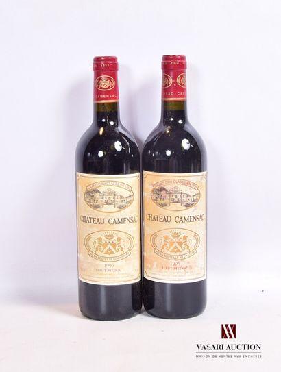 2 bouteillesChâteau CAMENSACHaut Médoc...