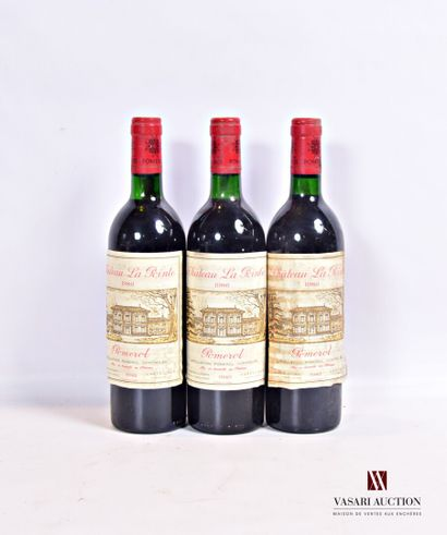 3 bouteillesChâteau LA POINTEPomerol1986...
