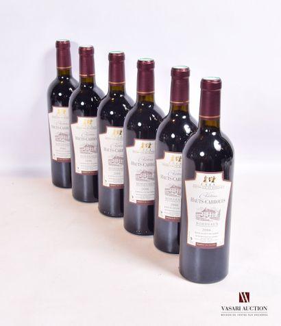 6 bouteillesChâteau HAUTS CABROLESBordeaux2006...