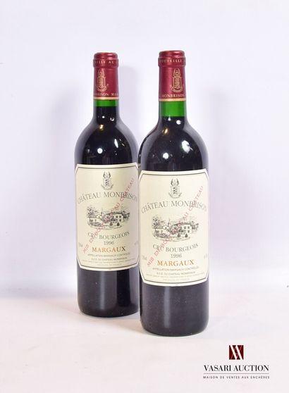 2 bouteillesChâteau MONBRISONMargaux CB1996...