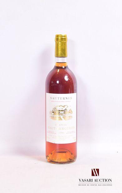 1 bouteilleChâteau HAUT BERGERONSauternes1996...
