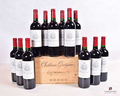 12 bouteillesChâteau GREYSACMédoc GCC2005...