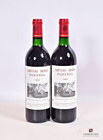 2 bouteillesChâteau NÉNINPomerol1994  Et....