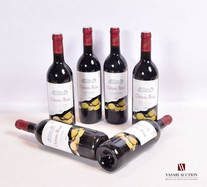 6 bouteillesChâteau ARZACGraves2000  Présentation...