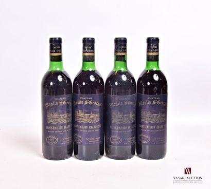 4 bouteillesChâteau MOULIN St GEORGESSt...