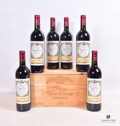 6 bouteillesChâteau RAUZAN GASSIESMargaux...