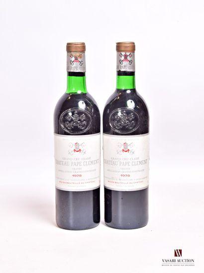 2 bouteillesChâteau PAPE CLÉMENTGraves...