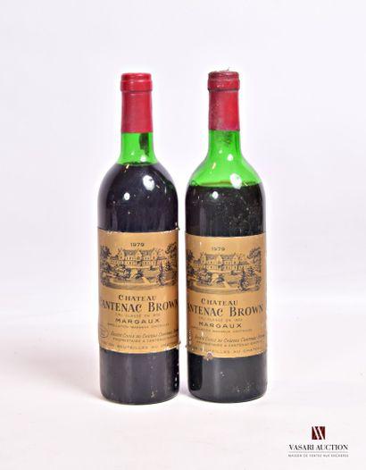2 bouteillesChâteau CANTENAC BROWNMargaux...