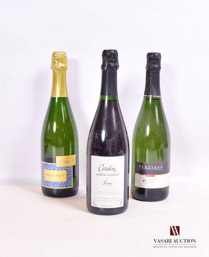 Lot de 3 bouteilles comprenant :  1 bouteilleBUGEY...