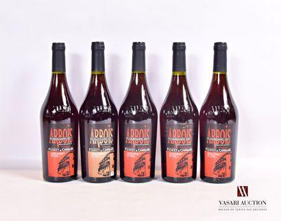 5 bouteillesARBOIS rouge Ploussard mise...