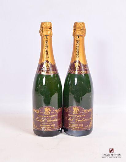 2 bouteillesChampagne MICHEL COCTEAUX Brut1982...