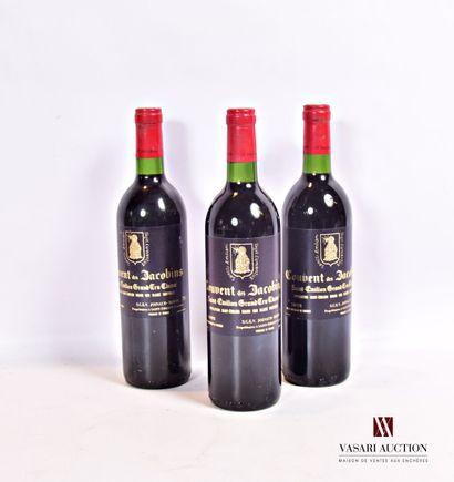 3 bouteillesCOUVENT DES JACOBINSSt Emilion...