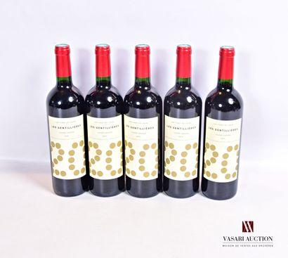 5 bouteillesLES GENTILLÈRES Cuvée Louxor...