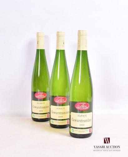 3 bouteillesVin d'Alsace GEWURTRAMINER mise...