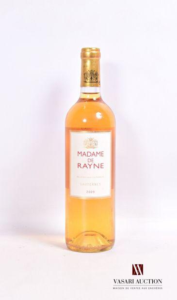 1 bouteilleMADAME DE RAYNESauternes2009...