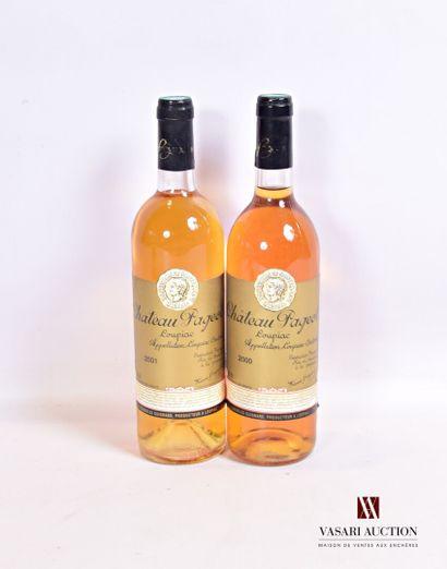 2 bouteillesChâteau PAGEOTLoupiac  1...