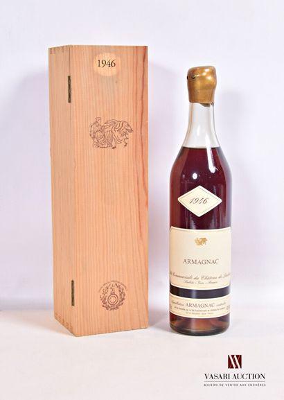 1 bouteilleARMAGNAC mise Château de Laubade1946...