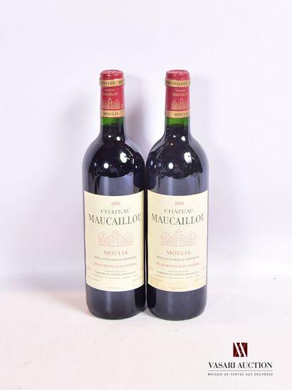 2 bouteillesChâteau MAUCAILLOUMoulis1996...