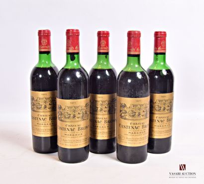 5 bouteillesChâteau CANTENAC BROWNMargaux...
