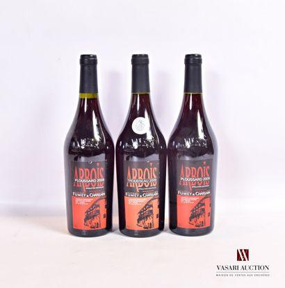 3 bouteillesARBOIS rouge Ploussard mise...