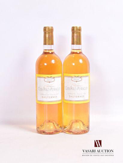 2 bouteillesCLOS HAUT PEYRAGUEYSauternes...