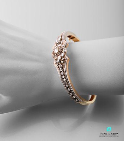 Bracelet demi-jonc en or jaune 750 millièmes...