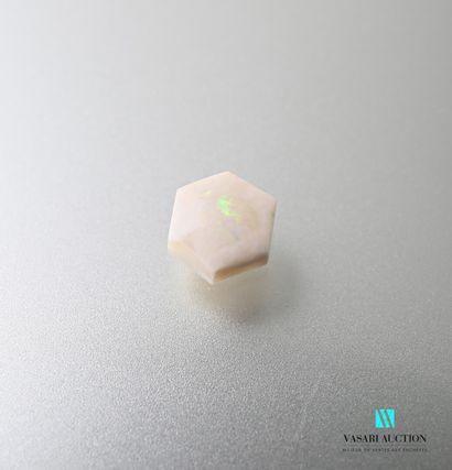 Une opale hexagonale sur papier d'1,4 ca...