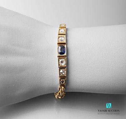 Bracelet souple en or jaune 750 millièmes,...