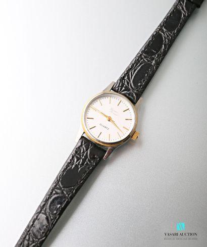 Montre bracelet de dame en acier et métal...