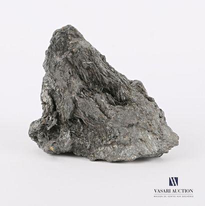 Fragment de roche présentant des brins de...