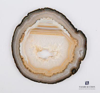 Tranche d'agate  Diam. : 16 cm