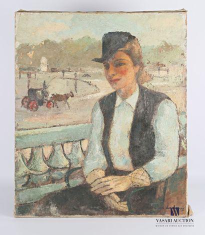 DESCHAMPS Raoul (1903-1958)  Portrait de...