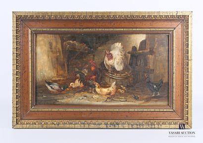 GUILLEMINET Claude (1821-1866)  Le dindon...