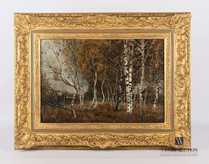 STÄBLI Adolf (1842-1901)  Forêt de bouleaux...