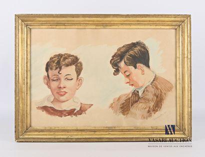 DUMONT J. (XXème siècle)  Etude de portrait...