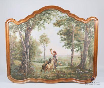 HAXO E. (XIX-XXèmes siècles)  Panneau décoratif...