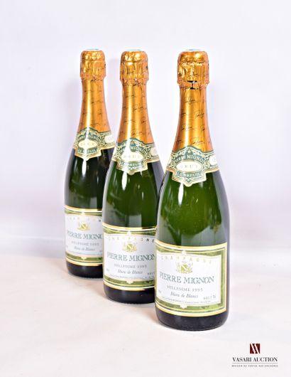 3 bouteillesChampagne PIERRE MIGNON Blanc...