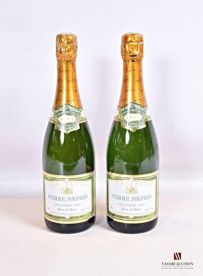 2 bouteillesChampagne PIERRE MIGNON Blanc...