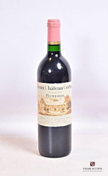 1 bouteilleVIEUX CHÂTEAU CERTANPomerol1996...