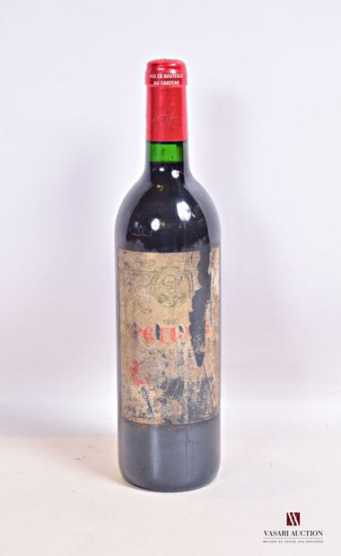 1 bouteillePÉTRUSPomerol1992  Et. très...