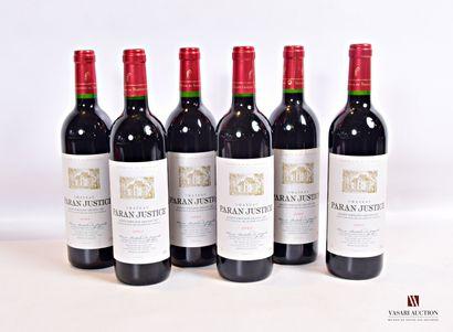 6 bouteillesChâteau PARAN-JUSTICESt Emilion...