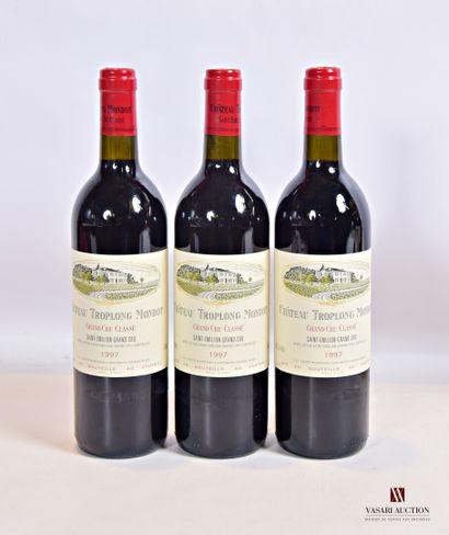 3 bouteillesChâteau TROPLONG MONDOTSt Emilion...