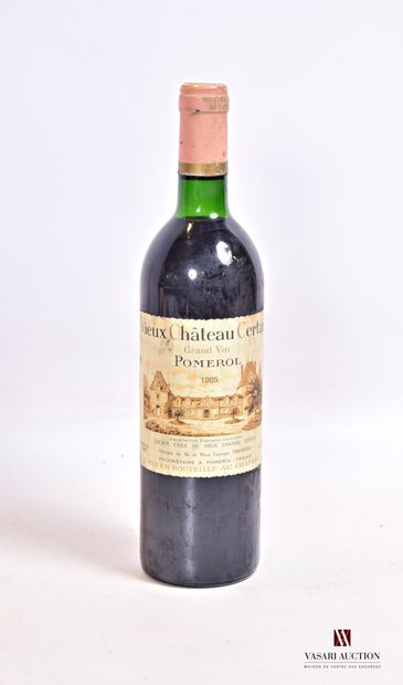 1 bouteilleVIEUX CHÂTEAU CERTANPomerol1985...