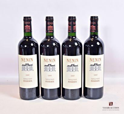 4 bouteillesChâteau NÉNINPomerol2005  Et....