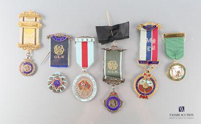 [GRANDE BRETAGNE]  Ensemble de six médailles...