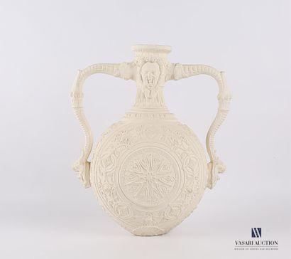 Vase en plâtre de forme gourde à panse sphérique...